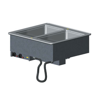 Vollrath 2-WELL HOT MODULAR DROP-IN with THERMOSTATIC CONTROLS & MANIFOLD DRAINS drip-free flange - 3639970