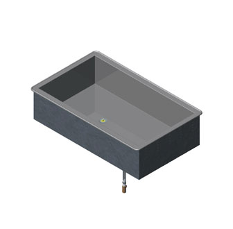 Vollrath 3-PAN NON-REFRIGERATED COLD PAN MODULAR DROP-IN 18-8 s/s - 36451