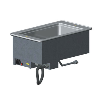 "Vollrath 1-WELL HOT MODULAR DROP-IN with THERMOSTATIC CONTROL & STANDARD DRAIN holds 12"" x20""/equiv fractional pans to 6"" deep - 3646611"