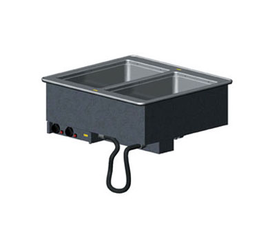 Vollrath 2-WELL HOT MODULAR DROP-IN with INFINITE CONTROLS & MANIFOLD DRAINS 18-8 s/s - 3647250