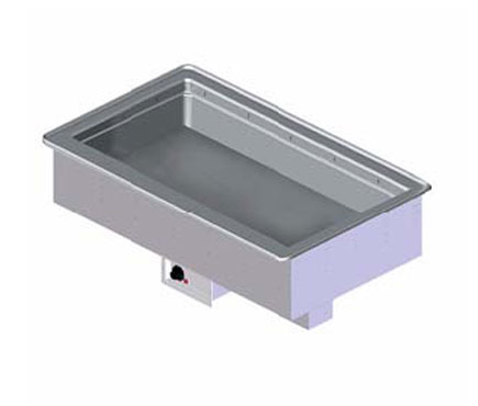 "Vollrath 6-PAN BAIN MARIE HOT DROP-IN THERMOSTATIC CONTROL & STANDARD 1"" NPT DRAIN with ball valve shutoff below exterior housing 18 gauge - 36506208"