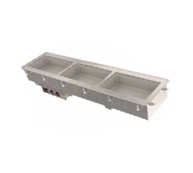 Vollrath Three-Well Hot Short Sided Drop-In Infiinite controls - 36643