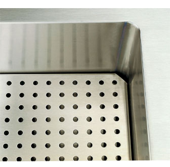 "Vollrath Perforated False Bottom - Signature Server Classic 60"" Cold Food Pan Station - 36915-2"