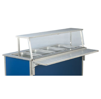 "Vollrath Single Deck Classic Cafeteria Breath Guard for 88"" ADA Signature units (when ordered as replacement breath guard crating charges are applied) - 9861006"