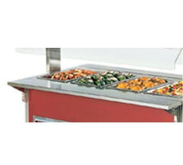 "Vollrath Plate Rest - ADA Signature Server Classic - Outside Corner Corner Station - 19 3/8""x6 15/16""x5 5/16"" - 37510-2"