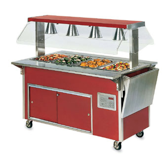 "Vollrath Operator Side- Plate Rest - with lift-off bracket ADA Signature Server Classic - 60"" - 3751350-2-O"