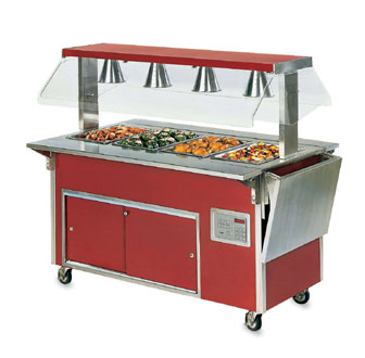 "Vollrath Tray Slide - V-rib ADA Signature Server Classic - Outside Corner Corner Station - 19 3/16""x10 15/16""x9 3/8"" - 37520-2"