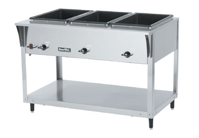 Vollrath ServeWell SL Hot Food Tables with 3 Wells
