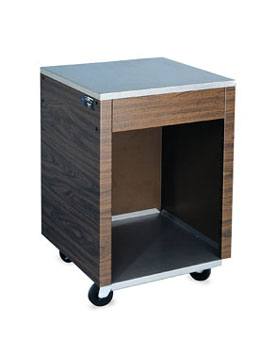 "Vollrath Affordable Portable Cashier Station with WALNUT WOODGRAIN WRAPPER 35""H - 38905"