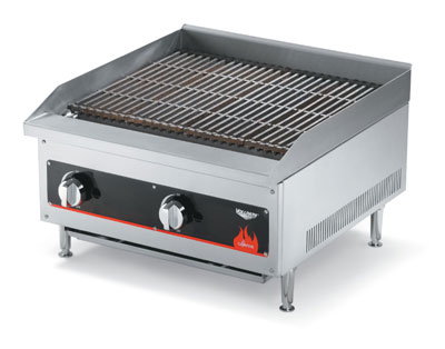 "Vollrath Cayenne Charbroiler 12"" Radiant/Lava Rock shipped set up for Natural Gas-includes kit with regulator for field conversion to Propane - 40728"