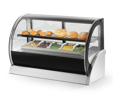 Vollrath Curved Glass Countertop Heated Display Cabinets