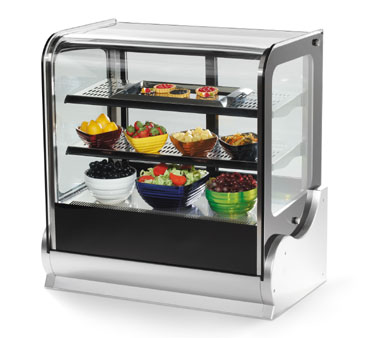 Cubed Glass Countertop Refrigerated Display Cabinet