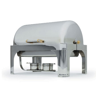 Popular Roll Top Vented Dome Cover Only New York New York Oblong Chafer Product Photo