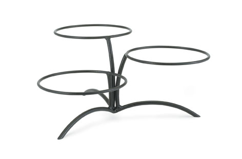 Vollrath Elevation Table Stand only with offset elevations durable heavy duty wire stand with black powder coat finish - 46540