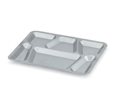 Vollrath Six Compartment Mess Tray with lugs stainless - 47252