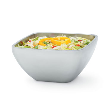 Vollrath Square Plain Double-Wall Insulated Bowl 8.4 qt. - 47677