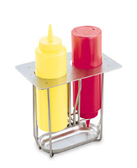 Vollrath Squeeze Bottle Holder s/s unit drops into 1/9 size opening in countertop - 56116