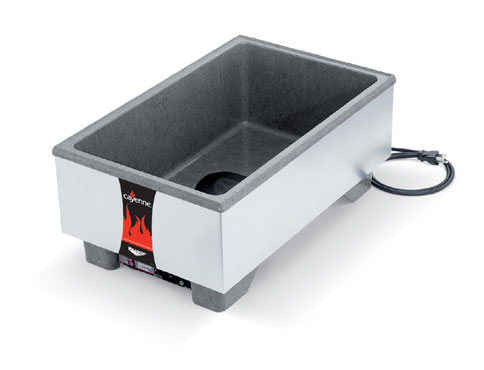Vollrath Cayenne Heat'N Serve Full Size Cntr- top Merch Brushed S/S - 72020