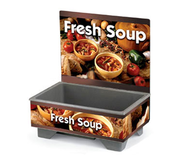Vollrath Cayenne 72020 Full Size Rethermalizing Model 1220 Soup Merchandiser with Country Kitchen Graphics BASE ONLY with FLUSH MOUNT MENU BOARD - 720200103
