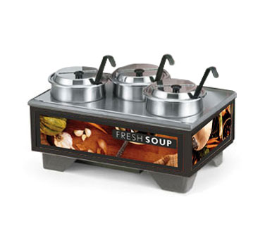 Vollrath Cayenne 72020 Full Size Rethermalizing Model 1220 Soup Merchandiser Base with Tuscan Graphics and 4 qt Accessory Pack - 720201002