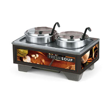 Vollrath Cayenne 72020 Full Size Rethermalizing Model 1220 Soup Merchandiser Base with Tuscan Graphics and 7 qt Accessory Pack - 720202002