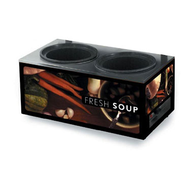 Learn more about Cayenne Twin Well Soup Merchandiser Tuscan Base Graphics Base Only Product Photo
