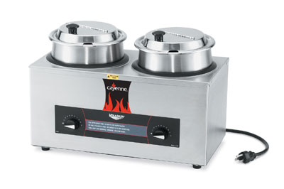 Vollrath Cayenne Soup Rethermalizer Package Model CM-24 Twin Well - 72040