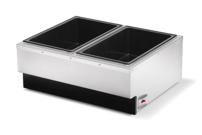 Vollrath Cayenne Dual Warmer two independently manually controlled warmers featuring exclusive Direct Contact Heating System - 72789