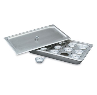 Vollrath Egg Poacher Plate Half Size - 75072