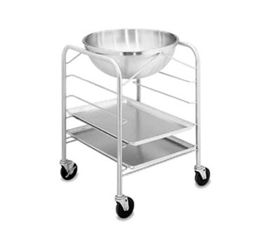 Vollrath Mobile Bowl Stands 30 Quart with Tray Slides