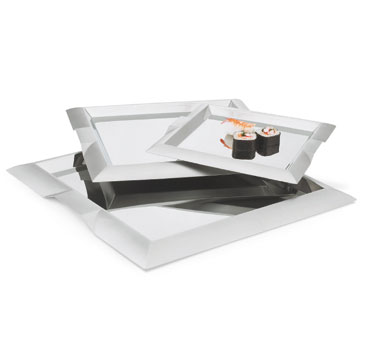 Vollrath Square Serving Tray large square with integral handles - 82092