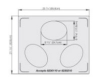 Vollrath Miramar Double Well Template for 3 small ovals - 8250114