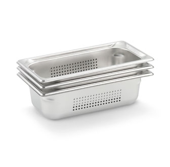 "Vollrath Super Pan 3 Third Size Perforated Food Pan 2.5"" deep - 90323"