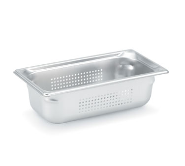 "Vollrath Super Pan 3 Third Size Perforated Food Pan 6"" deep - 90363"
