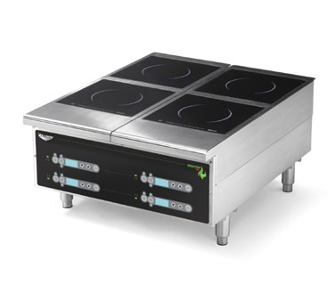 Vollrath Heavy-Duty Induction Hotplate - 4 Hob Digital Control Back of the House for Vollrath heavy-duty Countertop Cooking equipment - 924HIDC
