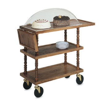 Vollrath Service Cart L'Elegance' Dessert Cart with Dome - 97037
