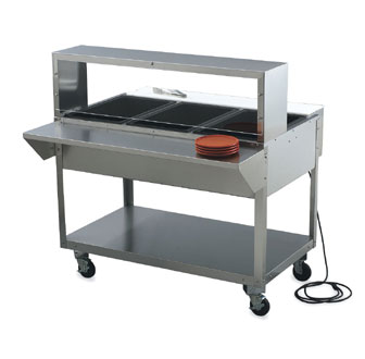 "Vollrath ServeWell Single Deck Cafeteria Breath Guard 76""Lx10""Wx13""H - 38055"