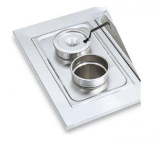 "Vollrath Adapter Plate with two 6 3/8"" inset holes - 19190"