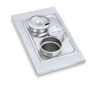 """Vollrath Adapter Plate with one 4 7/8"""" & two 6 3/8"""" inset holes - 19193"""