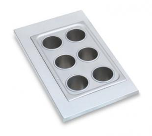 Vollrath Adapter Plate with six holes for 78710 Bain Marie pots - 19195