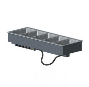 Vollrath 5-WELL HOT MODULAR DROP-IN with INFINITE CONTROLS & STD DRAINS 18-8 s/s - 36408