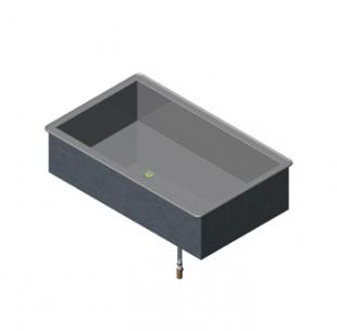 Vollrath 2-PAN NON-REFRIGERATED COLD PAN MODULAR DROP-IN 18-8 s/s - 36450