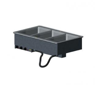 Vollrath 3-WELL HOT MODULAR DROP-IN with INFINITE CONTROLS & STD DRAINS 18-8 s/s - 36473
