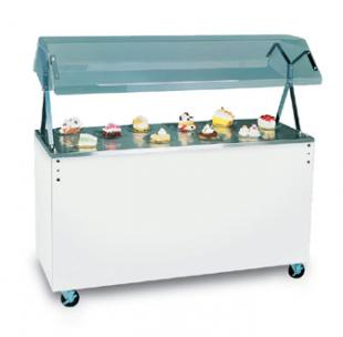Vollrath Affordable Portable Utility Station with BLACK WRAPPER complete with easy access fully enclosed clear acrylic Buffet NS