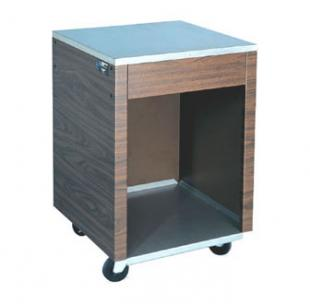 """Vollrath Affordable Portable Cashier Station with CHERRY WOODGRAIN WRAPPER 35""""H - 38760"""
