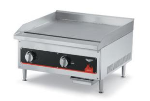 "Vollrath Cayenne 12"" Gas Flat Top Griddle shipped set up for Natural Gas-includes kit for conversion to Propane - 40718"