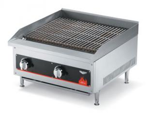"Vollrath Cayenne Charbroiler 24"" Radiant/Lava Rock shipped set up for Natural Gas-includes kit with regulator for field con"