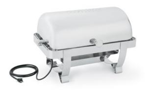 Vollrath Orion Retractable Full Size Roll Top Chafer with 100/120v 240/450w PTC heater 9 qt. - 46529