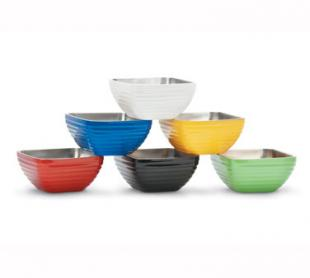 Vollrath Square Double Wall Insulated Colored Serving Bowl .75 quart - 4761910