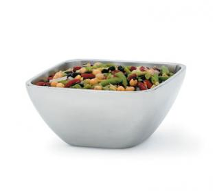 Vollrath Square Plain Double-Wall Insulated Bowl 1.8 qt. - 47672